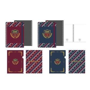 ボイメン学園 ノート&クリアファイルセット 全2種(レッド/ネイビー)