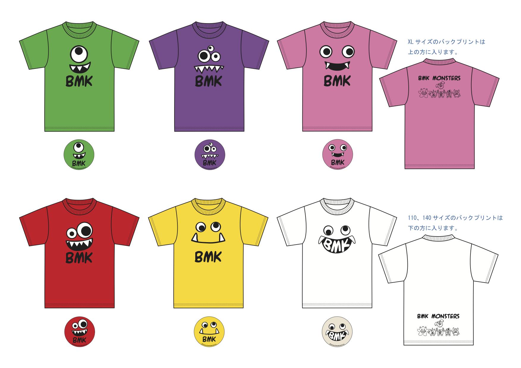 BMKモンスターズTシャツ (缶バッジ付)