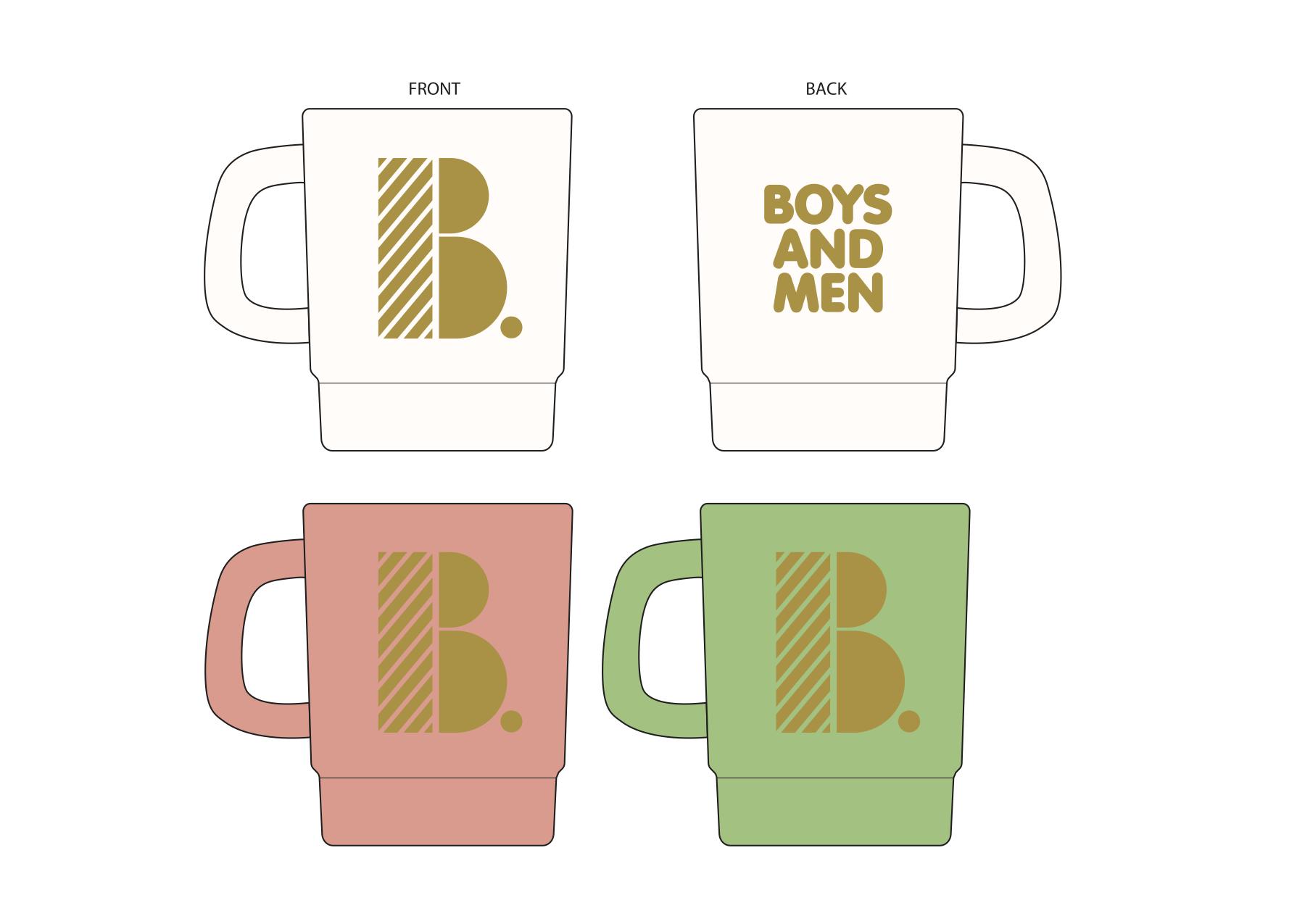 BM スタッキングマグカップ (全3種:ホワイト・ピンク・ミント)